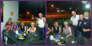(L-r) Karin, Kate, Christelle, Gery, Aad and Ann, with yours truly on the right in the second pic.