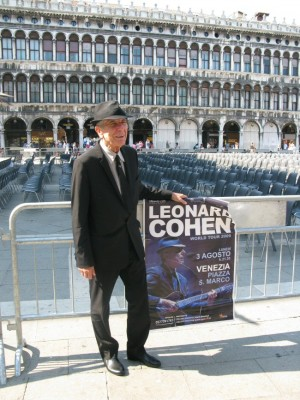 And here is the winner of Leonard Cohen Lookalike Competition at St Marqus Square in Venice: