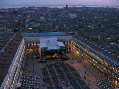 This is the venue at San Marco (photo shot from the top of the Campanile clock tower)