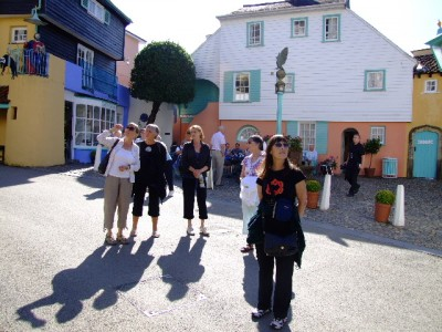 Carys, Judy, Liz, Beti and Marg at Portmeirion